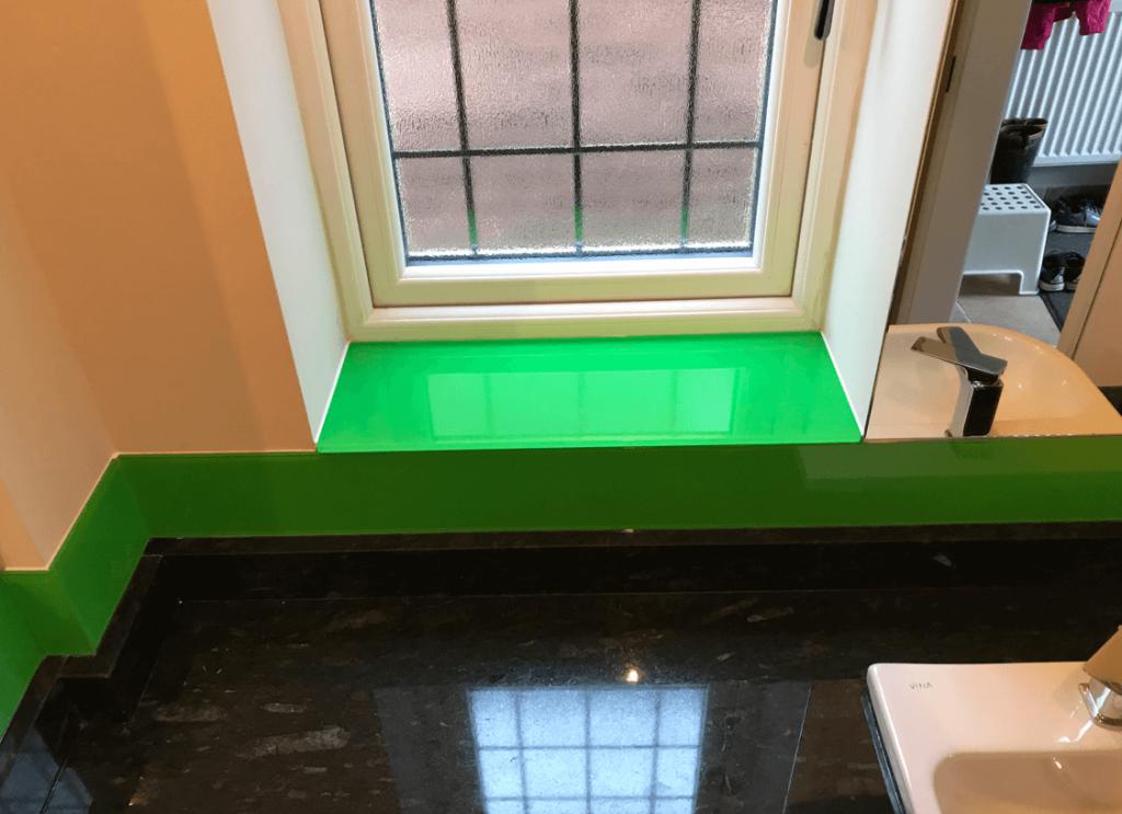 Parakeet Green Glass Splashback Glass Splashbacks