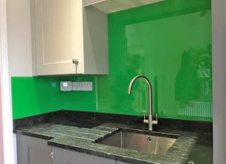Parakeet Green Glass Splashback