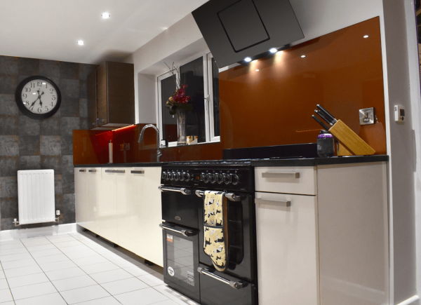 Copper Glass Splashback