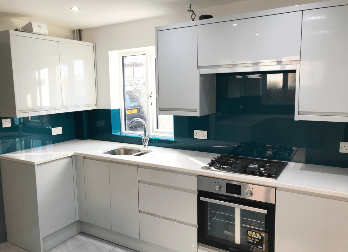 Preston Blue Glass Splashbacks
