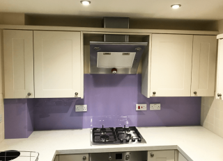 Perriwinkle Purple Glass Splashback