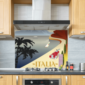 Art Deco Italia Glass Splashback