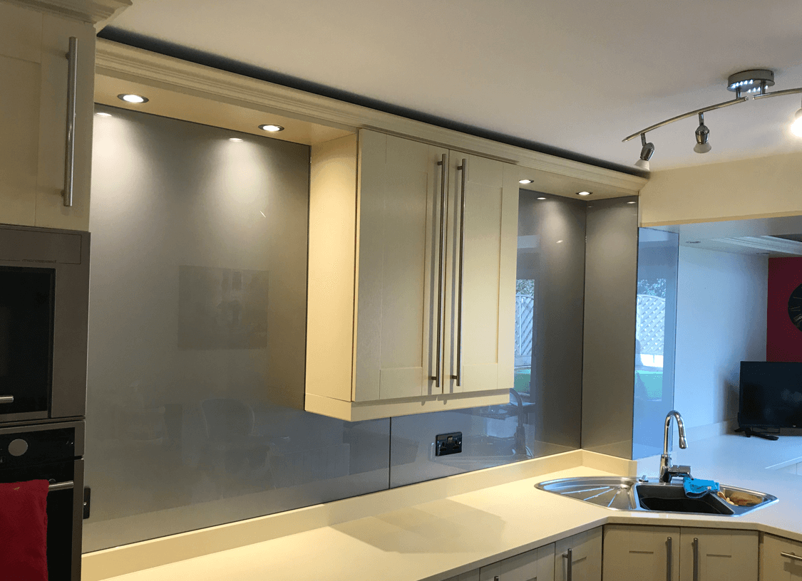 Metallic Glass Splashbacks Glass Splashbacks