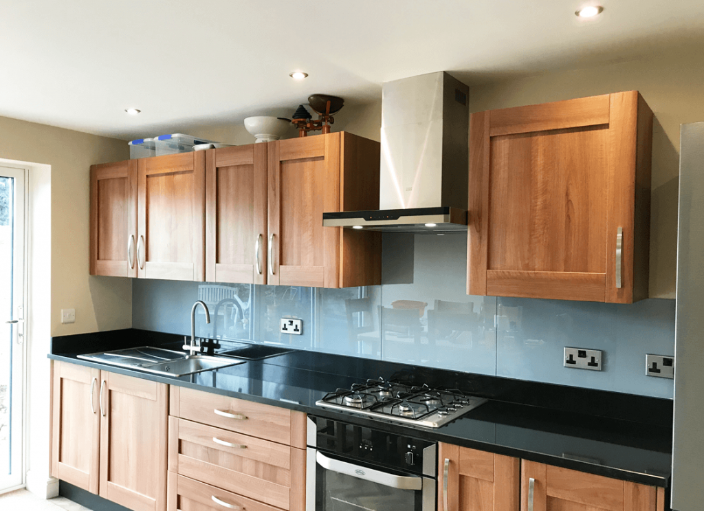 Dulux Natural Slate Glass Splashback Glass Splashbacks