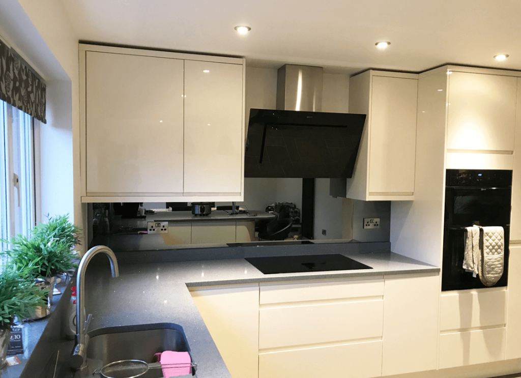 Top Hat Grey Mirror Glass Splashback Glass Splashbacks