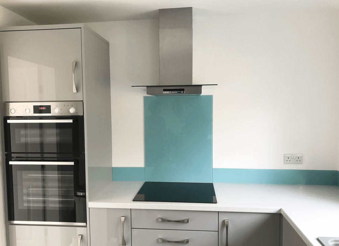 Blue Splashbacks South Manchester Glass Splashbacks