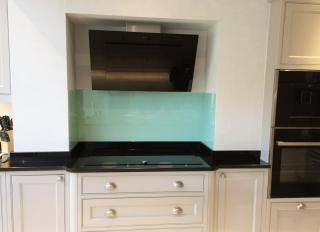 Cool Aqua Glass Splashback