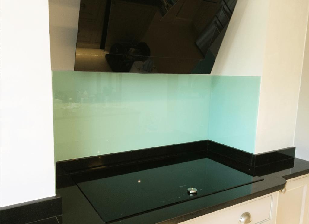 Cool Aqua Glass Splashback Glass Splashbacks