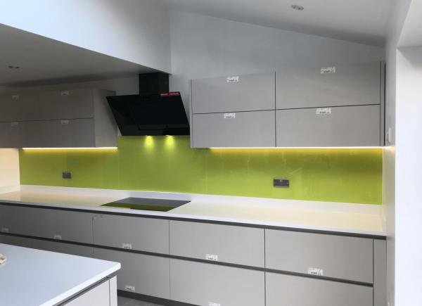 Luscious Lime Kitchen Glass Splashback
