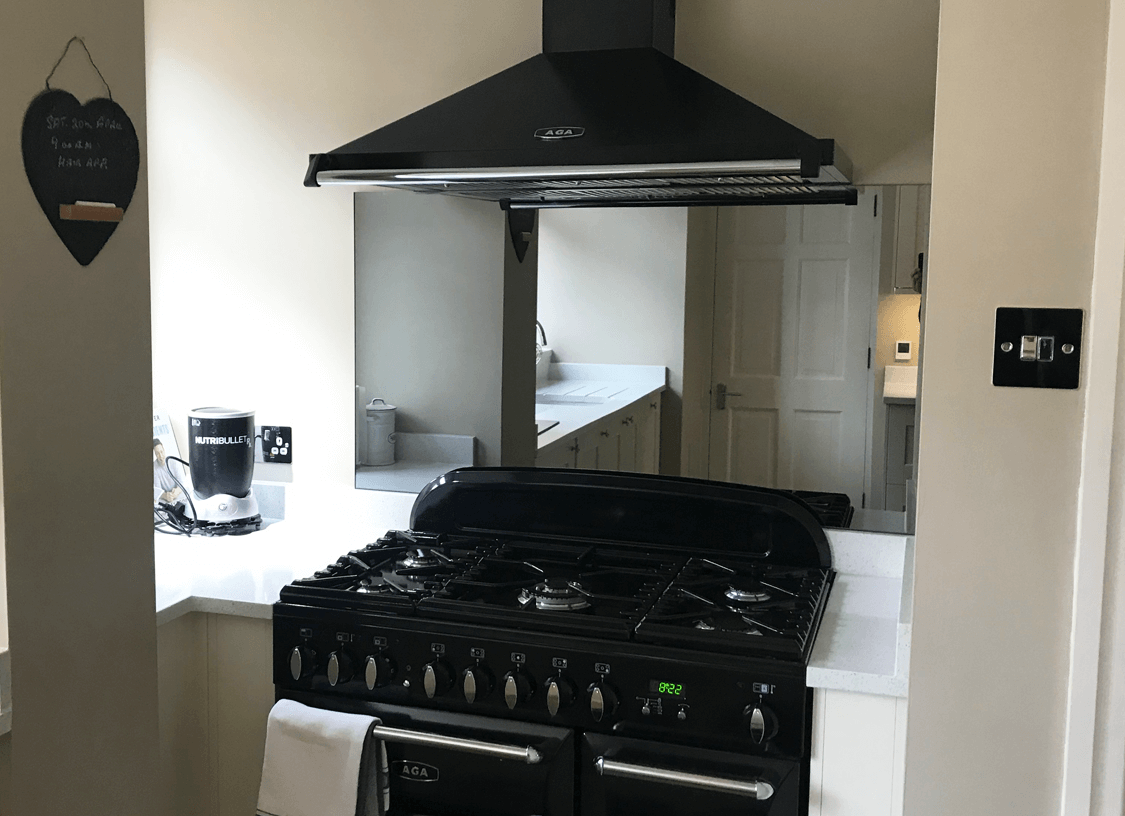 Toughened Grey Mirror Splashback
