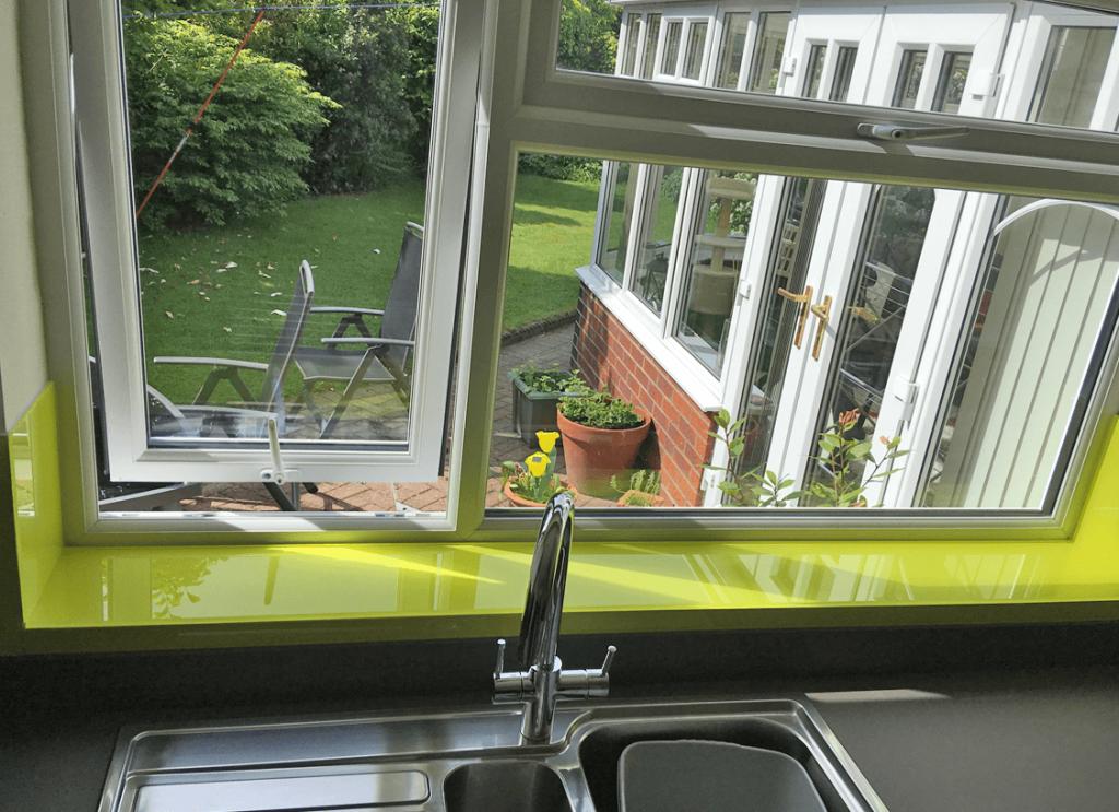 Vibrant Lime Glass Splashback Glass Splashbacks