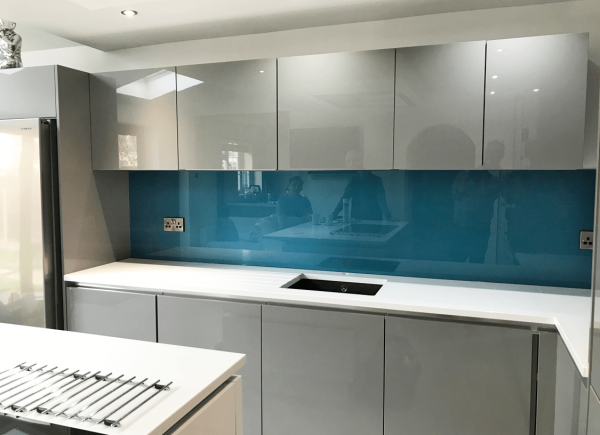 Cosmic Blue Toughened Glass Splashback
