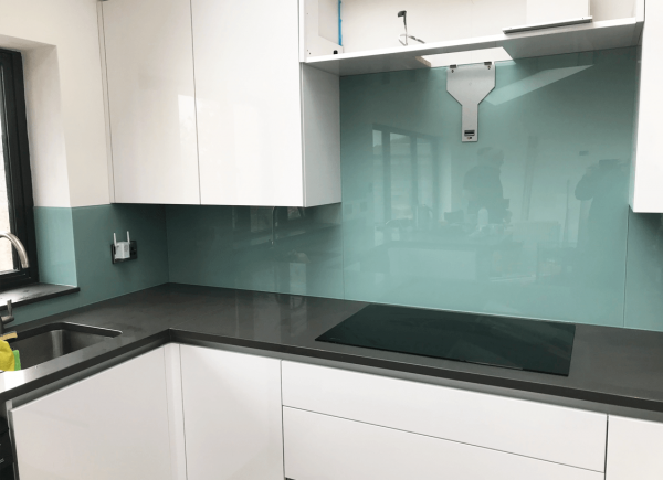 Dix Blue Toughened Glass Splashback