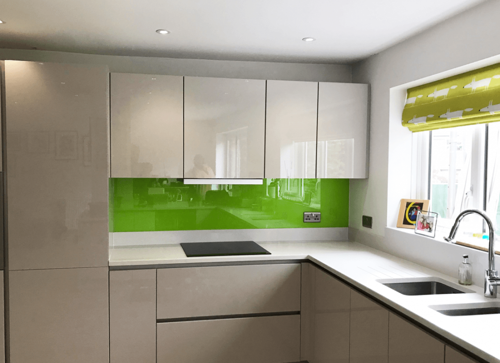 Lime No.3 Toughened Glass Splashback Glass Splashbacks