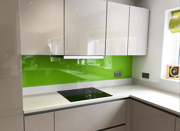 Lime No 3 Kitchen Glass Splashback