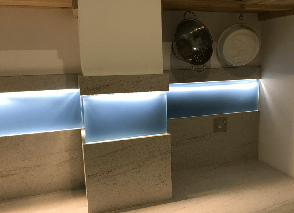 Cook's Blue Glass Splashback Glass Splashbacks