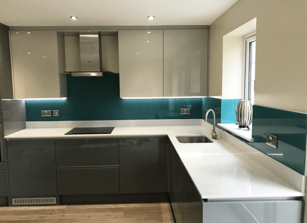 Aegean Toughened Glass Splashback Glass Splashbacks