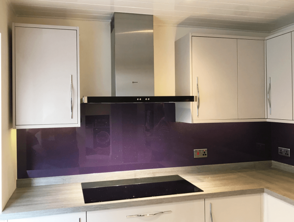 Grape Ape Glass Splashback