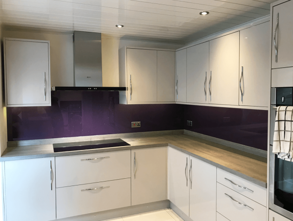 Grape Ape Toughened Glass Splashback