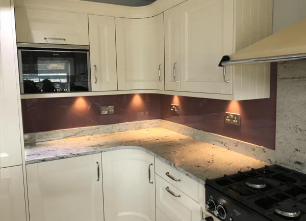 Heather Toughened Glass Splashback