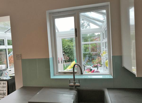 Montpellier Green Glass Window Sill