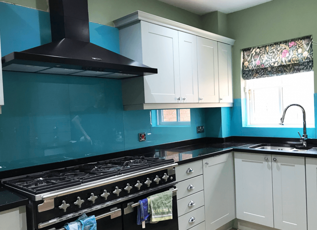 Caribbean Escape Toughened Glass Splashback Glass Splashbacks