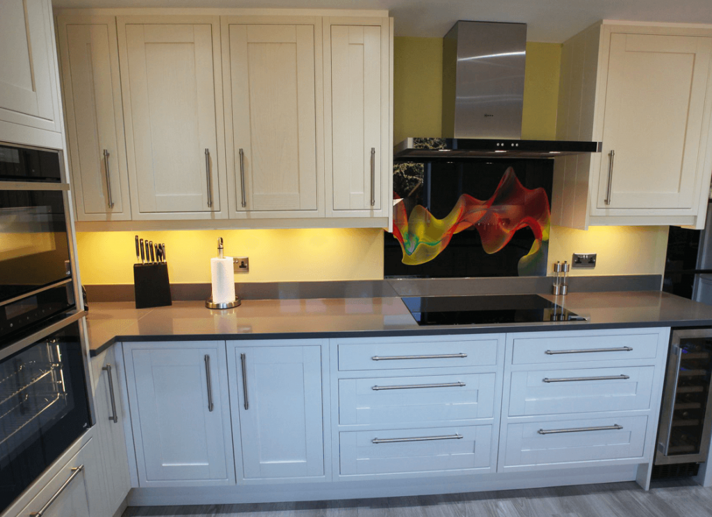 Coloured Smoke Printed Glass Splashback Glass Splashbacks