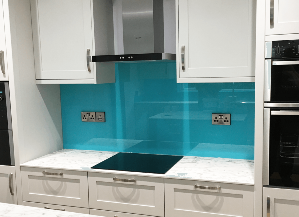 Ice Blue Glass Splashback
