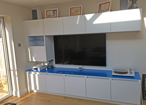 Picasso Blue Toughened Glass Worktop