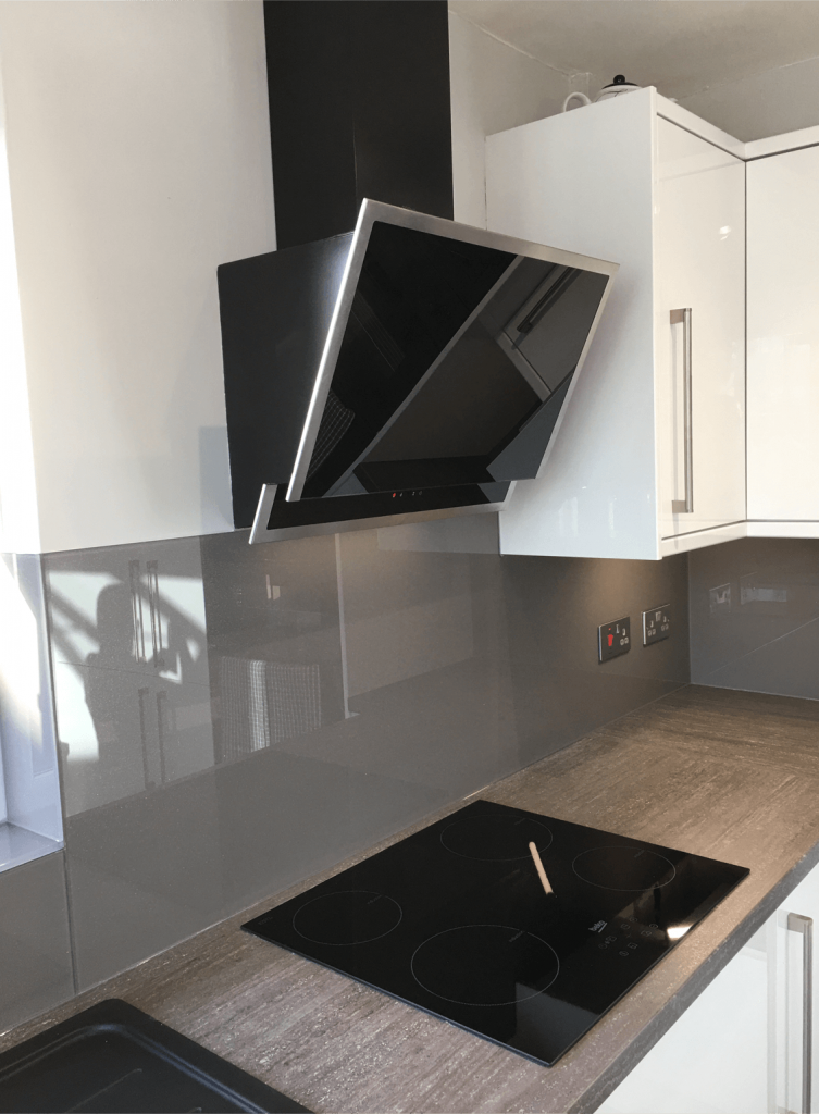 Shale with Medium Sparkle Toughened Glass Splashback Glass Splashbacks
