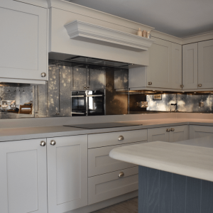 Smoked Antique Mirror Toughened Splashback