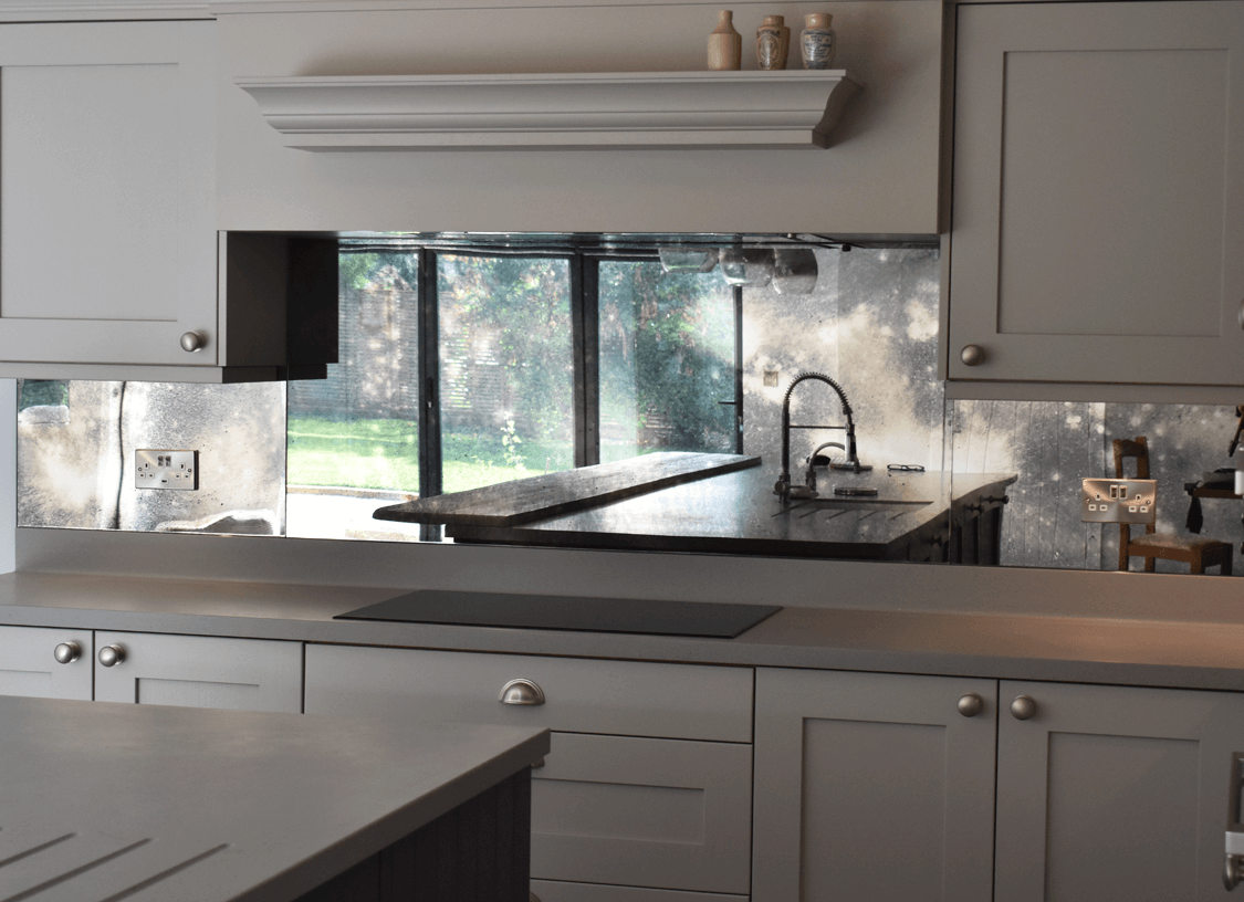 Smoked Antique Toughened Mirror | Glass Splashbacks Pro ...