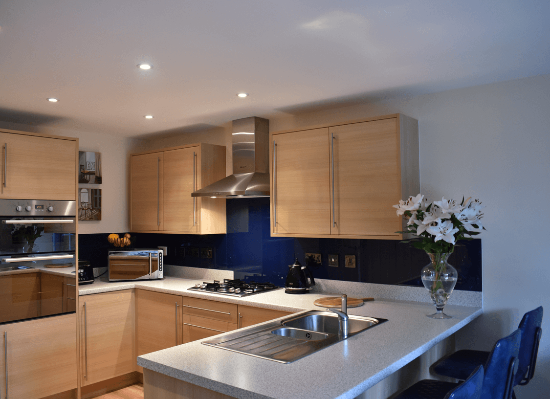 Blue Glass Splashbacks Glass Splashbacks
