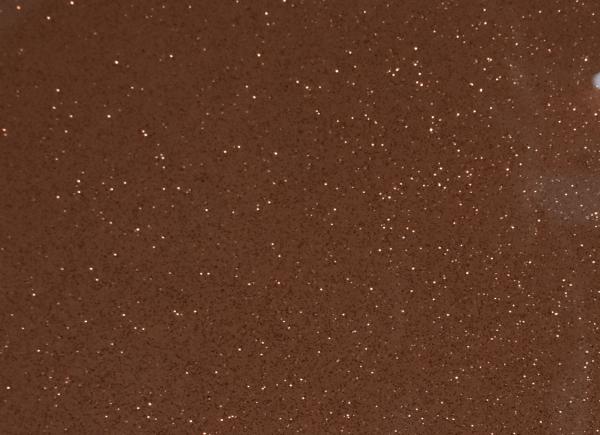 Rose Gold with Medium Copper Sparkle Close Up