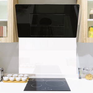 Arctic White Toughened Glass Splashback