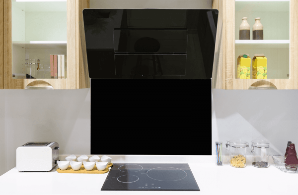 Black Toughened Glass Splashback