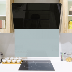 Cool Grey Toughened Glass Splashback