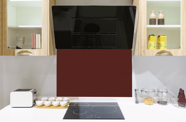 Cranberry Toughened Glass Splashback