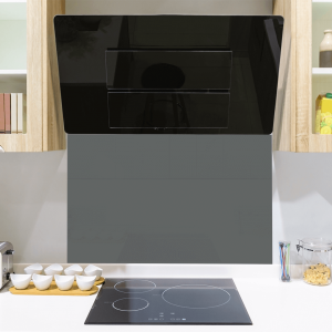 Dark Grey Toughened Glass Splashback