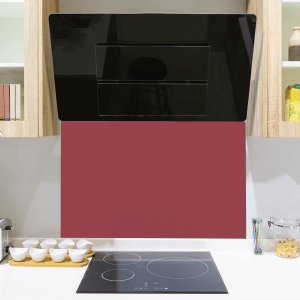 Deep Red Toughened Glass Splashback
