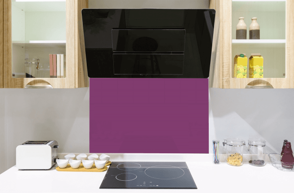 Dusky Orchid Toughened Glass Splashback