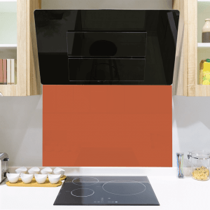 Flame Orange Toughened Glass Splashback