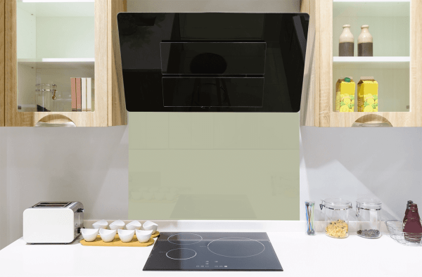 French Green Toughened Glass Splashback