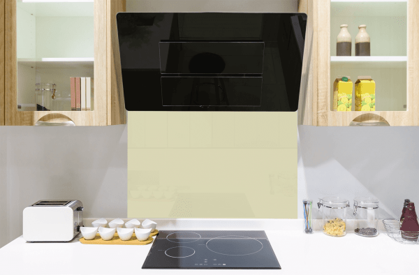 Fresh Green Toughened Glass Splashback