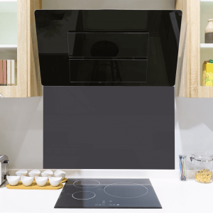 Georgian Black No 294 Toughened Glass Splashback