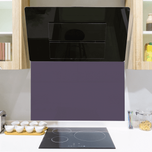 Grape Purple Toughened Glass Splashback