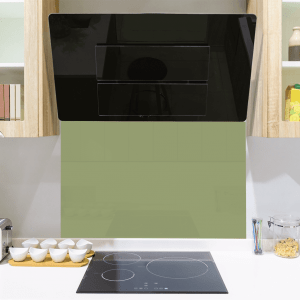 Grass Green Toughened Glass Splashback