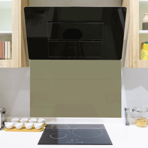 Green Olive Toughened Glass Splashback