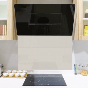 Historian White Toughened Glass Splashback