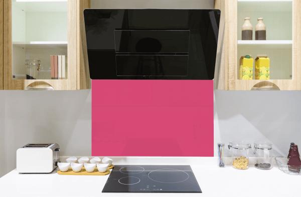 Hot Pink Toughened Glass Splashback